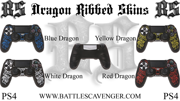 PS4 Dragon Ribbed Skins