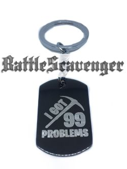 99 Problems Dog Tag