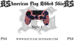 PS4 American Flag Ribbed Skin