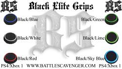 Black Elite Grips