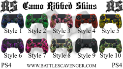 PS4 Camo Ribbed Skins