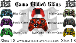 Xbox One S Camo Ribbed Skins