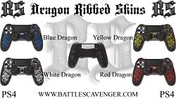 PS4 Dragon Ribbed Skins