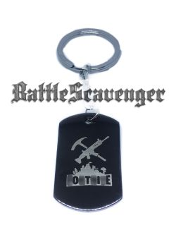 Gun And Pickaxe Dog Tag
