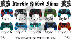 PS4 Marble Ribbed Skins