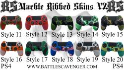 PS4 Marble Ribbed Skins V2