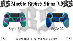 PS4 Marble Ribbed Skins V3