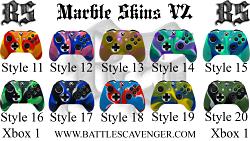 Xbox One Marble Skins V2